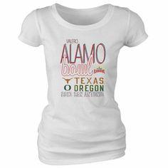 2013 Alamo Bowl Texas Longhorns vs. Oregon Ducks Ladies T-Shirt - $18.95