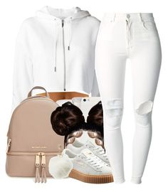 all white EᖇᖇYTᕼIᑎG-Rihanna Pumas by yani122 on Polyvore featuring polyvore fashion style (+) PEOPLE Puma MICHAEL Michael Kors Charlotte Russe clothing