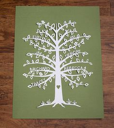 Family Tree | Papercut .. Design by me Cut by me www.faceboo… | Flickr
