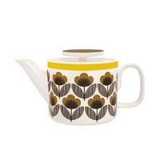 Orla Kiely Teapot - Poppy Meadow Brown