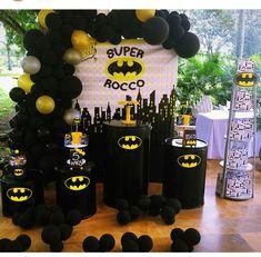 Baloon Backdrop, Batman Party Decorations, Lego Batman Birthday, Birthday Backdrop, Superhero Party, Backdrops For Parties, 3rd Birthday Parties, Diy Party, Party Time