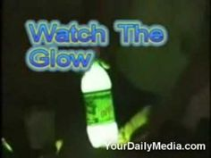 mountain dew glow stick - For camping or late nights at the beach? Leave 1/4 of Mountain dew in bottle (just dont drink it all), add a tiny bit of baking soda and 3 caps of peroxide.  Put the lid on and shake - walla! Homemade glow stick (bottle) solution.