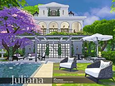 TSR : Juliana is a cozy mediterranean house for small or middle sim family. By Rirann.