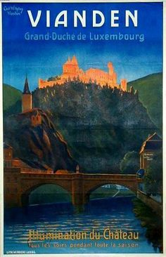 Vianden Luxembourg original poster by Wilhemy C.