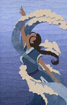 Trying the faux-papercut thing, and Katara is the perfect subject forever. So yes. I think it looks pretty okay!
