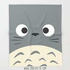 Totoro Blanket Ghibli Throw Kawaii Fleece Studio by CanisPicta