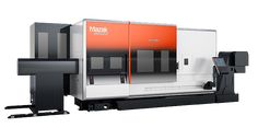 Mazak's INTEGREX CNC Multi-Tasking machine combines a turning center and machining center for full machining and productive manufacturing. 5 Axis Machining, Machine Design, Cnc Machine, Kiosk, Flat Design, Locker Storage, Technology, Tech, Gazebo