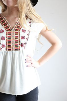 The Yucatan Embroidered Top