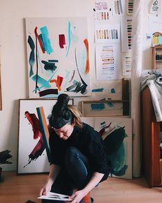 Slow morning making some decisions. Slow Mornings, Wooden Cabins, West Coast, Irish, Contemporary Art, Studio, Blue, Irish Language, Studios