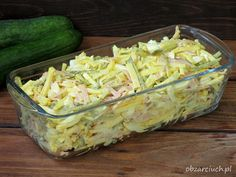 Salad Recipes, Dessert Recipes, Happy Foods, Polish Recipes, Fruit Snacks, Kraut, Potato Salad, Cabbage, Appetizers