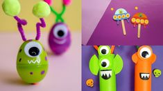 9 Awesome Alien Crafts for Artsy Earthlings Spaceship Craft, Alien Spaceship, Kids Craft Supplies, Arts And Crafts Supplies, Alien Crafts, Playing With Slime, Cute Kids Crafts, Paper Towel Tubes, Plastic Easter Eggs