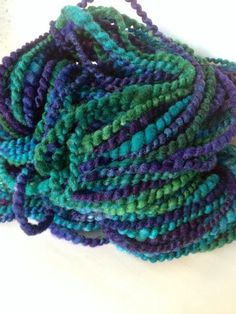 NICKELBEE Studios - the finished spiral-ply yarn!