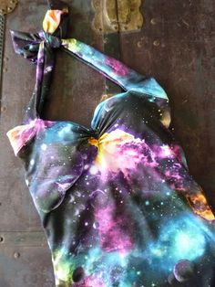 Galaxy cosmic print Retro Pin Up One piece Swimsuit sizes xs- xl Made to Order.