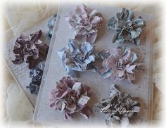 Frilly and Funkie: Friday Focus: Maja Papers! Paper Bouquet, Jumping For Joy, Paper Flower Tutorial, Scrapbook Paper Crafts, Scrapbooking, Diy Ribbon, Lace Flowers, Tag Art, Handmade Flowers