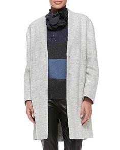 Macro-Melange Felted Car Coat by Brunello Cucinelli at Neiman Marcus. 5190$