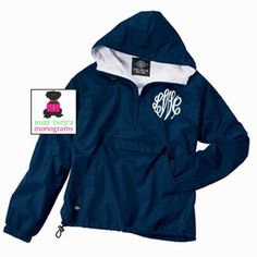 Love!! Monogrammed Wind Jacket.   @Kristen Young we cannot forget!