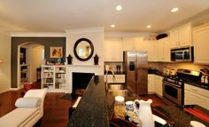 Taylor Kitchen and Family Room in Kitts Creek #Morrisville #NC