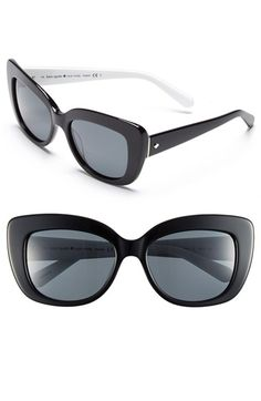 kate spade new york 'ursula' 55mm polarized cat eye sunglasses (Nordstrom Exclusive) available at #Nordstrom