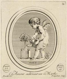 L'Amour cultivant un Mirthe, engraved by Madame de Pompadour (Louvre)