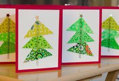 Half-square Christmas trees