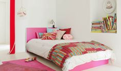 IKEA Malm twin bed with PANYL in Hot Pink.