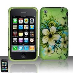 Apple iPhone Apple Green Butterfly Flower Premium Design Snap-On Premium Phone Protector Hard Cover Case , iPhone cases Cool Iphone Cases, Iphone 4s, Apple Iphone, Green Butterfly, Butterfly Flowers, Hibiscus, Cell Phone Accessories, Design, Apple 4