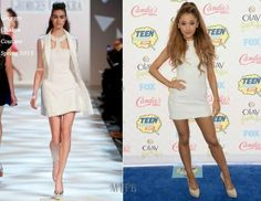 Ariana Grande In Georges Chakra Couture - 2014 Teen Choice Awards. Re-tweet and favorite it here: https://twitter.com/MyFashBlog/status/499307650257915905/photo/1