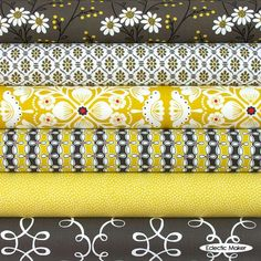 Michael Miller Fabric Pack Citron Gray in Wallflower Michael Miller Fabric Pack…