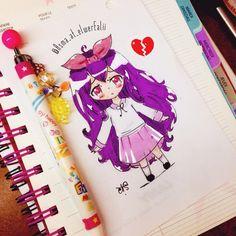 Anime girl purple hair❤️