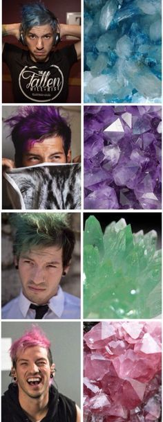 josh dun hair :) every color is equally as beautiful as the other damn