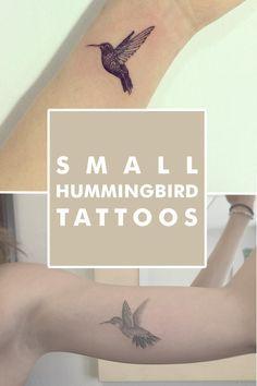 cutelittletattoos: Small Hummingbird Tattoos