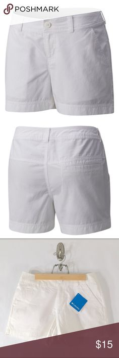 Columbia Sunset Hill Shorts Crafted of 100% soft breathable cotton, these cute and comfortable mid-rise shorts with a 4-inch inseam will take you from city to shore to mountain and back again. Columbia Shorts