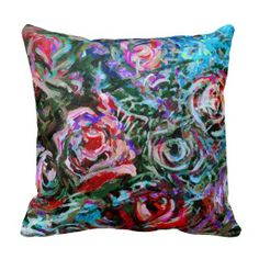 Abstract Roses by Alexandra Cook Pillows