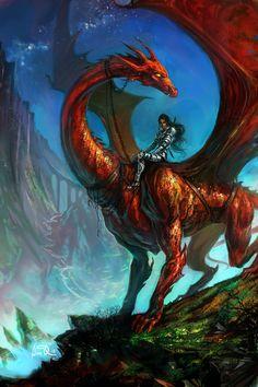 Dragonrider by *anndr on deviantART