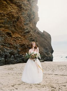 Posing Bride with bouquet