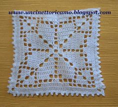 Miniature crochet square doily 6 cm, dollhouse crochet tablecloth, dollhouse miniature white small doily micro crochet by MiniGio Crochet Flower Squares, Crochet Square Patterns, Crochet Blocks, Doily Patterns, Crochet Blanket Patterns, Crochet Designs, Filet Crochet, Crochet Diagram, Crochet Motif