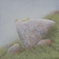 'Stil even'  acrylic on panel, 30 x 30 cm Reinder Ourensma