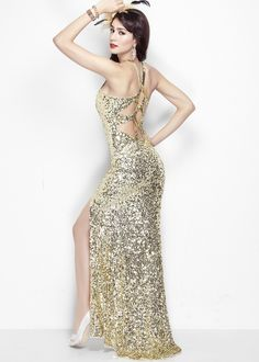 Primavera 1152 Sequin Evening Gown #CrushingOnRissyRoos #favorite #cute #fashion #RissyRoos #style #prominspiration #prom #prom2k15 #promfashion #glitterparty #sequins #glitter