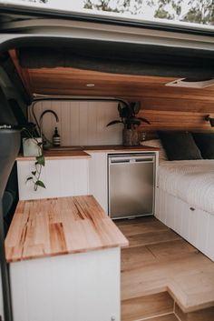 Van Conversion Interior, Camper Van Conversion Diy, Door Linings, Camper Van Kitchen, Build A Camper Van, Kombi Home, Van Home, Bus House, Van Design