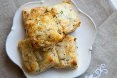 Cheese Biscuits ~ Quick and easy biscuits filled with Parmesan cheese, black pepper, and scallions. An ideal bread for a picnic, dinner party, or for last minute guests.  ~ SimplyRecipes.com