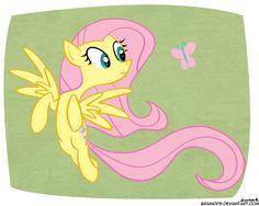 Flutters Shy by BrainDps.deviantart.com on @deviantART
