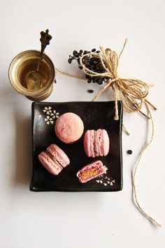 Blueberry Cheesecake Macarons by raspberri cupcakes, via Flickr