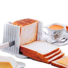 BlastCase Bread Slicer Foldable and Adjustable Bread Toast Slicer Bagel Slicer Loaf Sandwich Bread Slicer Toast Slice Cutter Mold with 4 Slice Thicknesses (white) Kitchen Tools, Kitchen Dining, Kitchen Gadgets, Kitchen Craft, Kitchen Appliances, Buy Kitchen, Small Appliances, Slice Cutter, Slice Tool