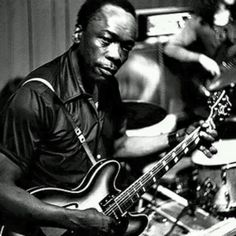 A rare picture of a very young John Lee Hooker.