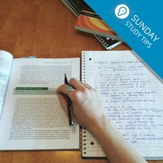 #SundayStudyTips  Create a study guide.  Outlining the important information you need to learn can be helpful, both in creation and to refer to during your studies.
