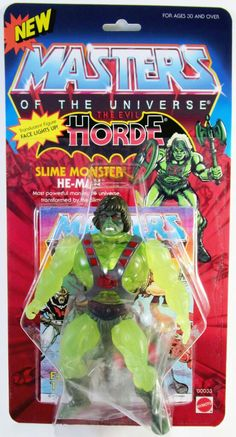 Masters of the Universe The Evil Horde Slime Monster He-Man