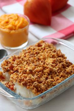 Crumble de dos de cabillaud au chorizo Macaroni And Cheese, Cereal, Brunch, Menu, Dinner, Cooking, Breakfast, Ethnic Recipes, Food