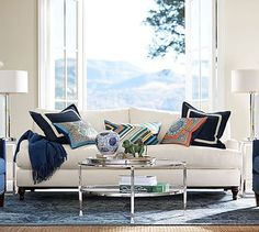 Carlisle Upholstered Sofa #potterybarn