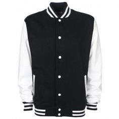 FDM Unisex Varsity  University Jacket Contrast Sleeves -- Find out more about the great product at the image link.