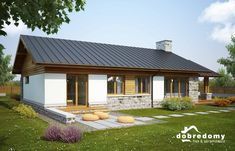 Hawana - Dobre Domy Flak & Abramowicz Barn House Design, Modern Barn, Future House, Tiny House, Gazebo, House Plans, Outdoor Structures, Cabin, Architecture